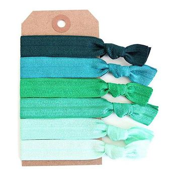 Green Ombre Hair Tie Set