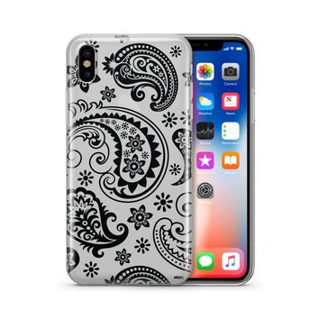 Black Paisley - Clear Case Cover