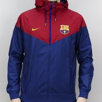 """NIKE"" Futbol Club Barcelona soccer Men exercise wind coat"