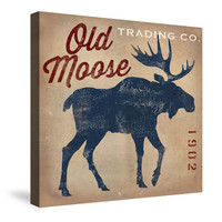 Old Moose Trading Co. Tan Canvas Wall Art