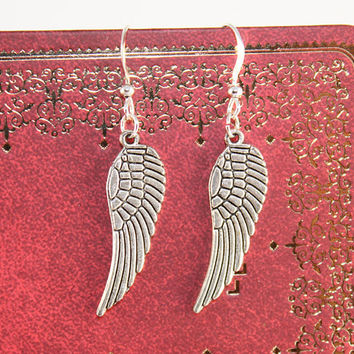 Silver Wings Earring by BeautyandLuck on Etsy