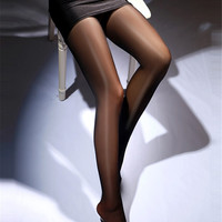 C2135 Hot women sexy winter warm medias stockings wet look tights sexy stockings super stretch elastic compression stockings