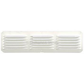 "Lomanco® C416-W C-Series Under Eave Cornice Vent, 4"" x 16"", White"