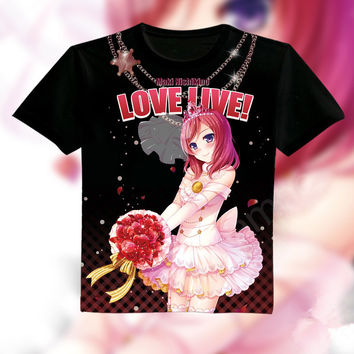 L-XXXL [Love live] Nishikino Maiki Wedding Anime Tee shirt CP153793
