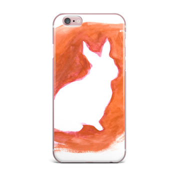 "Theresa Giolzetti ""Orange You A Bunny"" Abstract Paint iPhone Case"