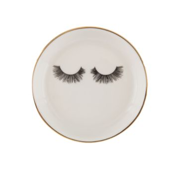 Sleeping Lashes Ceramic Trinket Dish