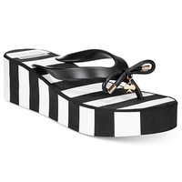 kate spade new york Rhett Striped Wedge Sandals | macys.com