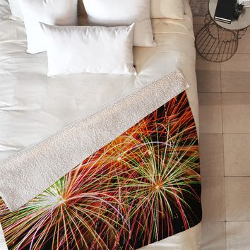 Shannon Clark Fireworks Fleece Throw Blanket
