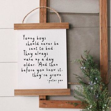 Peter Pan Quote Canvas Poster