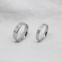 2pcs-Free Engraving, silver ring,promise ring,couple Rings, Lovers rings