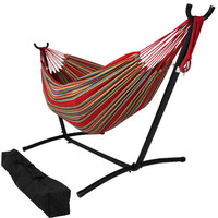 Sunnydaze Decor Sunset Color Hammock with Adjustable Stand