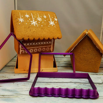 Gingerbread House Cookie Cutter and Fondant Cutter and Clay Cutter