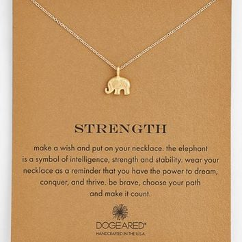 Women's Dogeared 'Reminder - Strength' Pendant Necklace