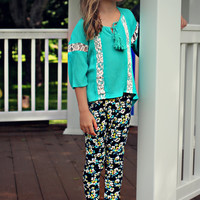 Be A Friend Top - Turquoise