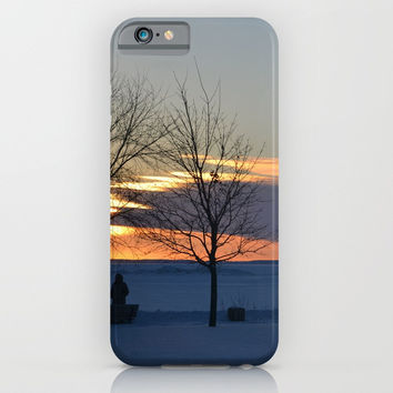 Watching the winter sunset iPhone & iPod Case by Stevestones