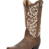 Women's Western NS Toe - Distressed Saddle