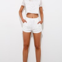 The Greatest Dream Crop Top White