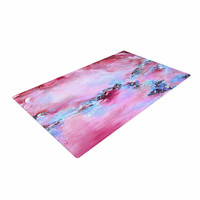 "Ebi Emporium ""Sea To Sky 3"" Pink Abstract Woven Area Rug"