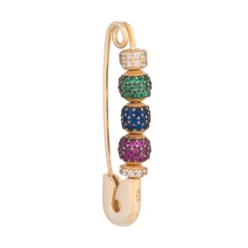 Safety Pin Earring-Rainbow