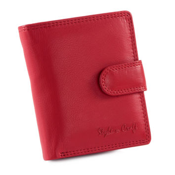 Style n Craft 300952-RD Small Ladies Clutch Wallet - Soft Cow Leather