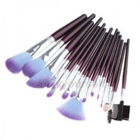 NEEWER? Fashion New 16 Pcs Pro Purple Makeup Eye Shadow Brush Cosmetic Set Kit