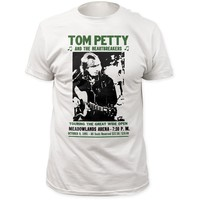 Tom Petty and the Heartbreakers Vintage Concert T-Shirt - Into the Great Wide Open Tour Meadowlands Arena October 9, 1991. Men's White Shirt