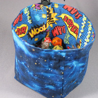 Comic Book Galaxy Reversible Medium Dice Bag Flat Bottom Pouch RPG Role Playing Game Geek leteam