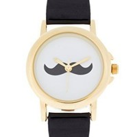 Mustache Leather Watch from Heartblues