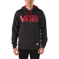 Vans Classic Pullover Hoodie (Black Heather/Chili Pepper)