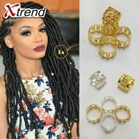 500Pcs/Lot Mix Silver Golden Plated Hair Braid Dread Dreadlock Beads Adjustable Cuff Clip 8mm Clip Metal Tube Lock