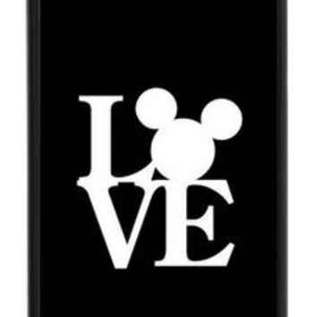 Custom Disneyland Mickey Ears Love Cell Phone Case Cover Apple iPhone 4 4s 5 5s Samsung Galaxy S3 S4