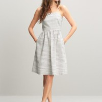 Linen/cotton strapless dress | Banana Republic