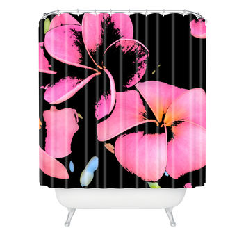 Romi Vega Star Flowers Shower Curtain