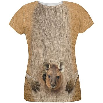 Halloween Kangaroo Costume All Over Womens T-Shirt