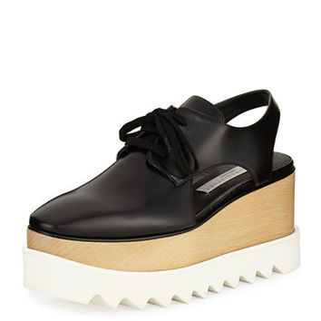 Stella McCartney Elyse Cutout Platform Oxford