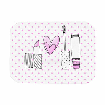 "MaJoBV ""Girls Luv"" Pink Makeup Place Mat"