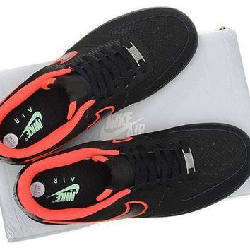 DCCKBE6 Nike Air Force 1  488298 048 Black Red For Women Men Running Sport Casual Shoes Sneakers