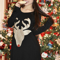 Cute Red Nose Reindeer Tunic - Regular & Plus