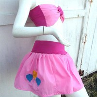 MY LITTLE PONY set Skirt and bow top Pinkie Pie MLP FiM Cosplay