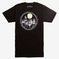 Harry Potter Hogwarts Gold Moon T-Shirt