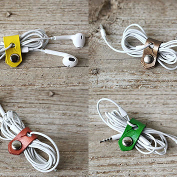 Leather Travel Cord Organizers
