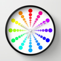 dots & circles o4 Wall Clock by Steffi by findsFUNDSTUECKE