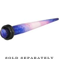 2 Gauge Blue Purple Acrylic Galaxy Taper Ear Plug | Body Candy Body Jewelry