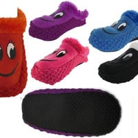 J-Ann Ladies knitted Home Slipper-Smily face, 9-11 Case Pack 24