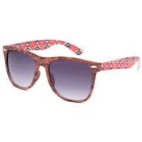 Blue Crown Tribal Arms Sunglasses Wood One Size For Women 25639746101