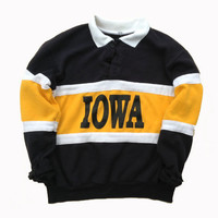 Iowa Hawkeyes Football Crewneck Sweatshirt - University of Iowa Vintage Crewneck - Gift for Him