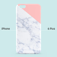 iPhone 6 Plus case - Indian pink edge of a marble  - iPhone 6 case, iPhone 5s case, iPhone 5 case, iPhone 4s case non-glossy