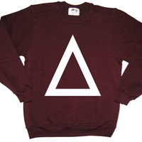 TRIANGLE PIRAMID SWEATER jumper sweatshirt hipster festival rave rare womens mens tumblr dope swag winter punk rock logo new retro vtg