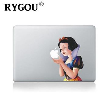 For Macbook air 13 inch vinyl sticker for macbook Pro Retina 13 inch Laptop Personality Snow White Cartoon Skin Decal cover