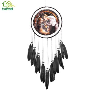 Eagle Dream catcher Oil Painting Glede Dream Catcher Feather Bead For Car Home Wall Hanging Ornament Decoration